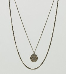 Reclaimed Vintage Inspired Pendant & Chain Necklace In 2 Pack Exclusive To ASOS - Gold