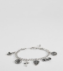 Reclaimed Vintage Inspired PLUS Silver Charm Bracelet Exclusive To ASOS - Silver