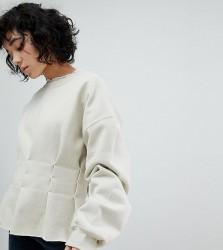 Reclaimed Vintage Inspired Re-Worked Sweatshirt - Beige