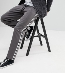 Reclaimed Vintage Inspired Relaxed Trouser With Side Tape Detail - Grey