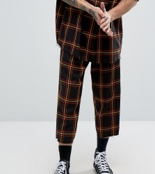 Reclaimed Vintage Inspired Relaxed Trousers In Check - Black