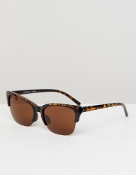 Reclaimed Vintage Inspired Retro Sunglasses In Tort - Brown