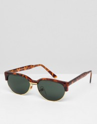 Reclaimed Vintage Inspired Retro Sunglasses In Tort Exclusive To ASOS - Brown