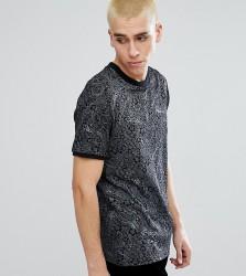 Reclaimed Vintage Inspired Ringer T-Shirt In Black Floral Print - Black