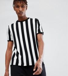 Reclaimed Vintage Inspired Ringer T-Shirt In Black Stripe - Black
