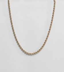 Reclaimed Vintage Inspired Rope Chain Necklace In Gold Exclusive To ASOS - Gold