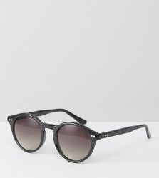 Reclaimed Vintage Inspired Round Sunglasses In Black - Black