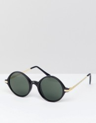 Reclaimed Vintage Inspired Round Sunglasses In Black Exclusive To ASOS - Black