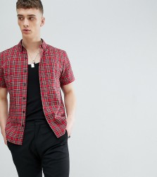 Reclaimed Vintage Inspired Shirt In Tartan Check - Red