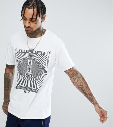 Reclaimed Vintage Inspired Short Sleeve T-Shirt with Graphic Print - White