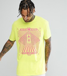Reclaimed Vintage Inspired Short Sleeve T-Shirt with Graphic Print - Yellow