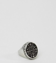Reclaimed Vintage Inspired Signet Ring - Silver