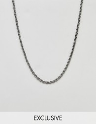 Reclaimed Vintage Inspired silver rope chain - Silver