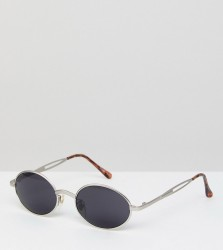 Reclaimed Vintage Inspired Silver Sunglasses With Black Frame Exclusive To ASOS - Silver