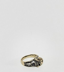 Reclaimed Vintage Inspired Skull Band Ring In Gold Exclusive To ASOS - Gold