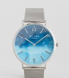 Reclaimed Vintage Inspired Sky Mesh Watch In Silver Exclusive To ASOS - Silver