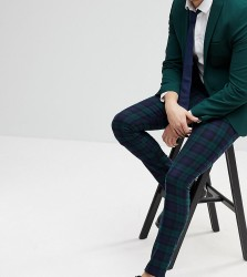 Reclaimed Vintage Inspired Smart Skinny Trousers In Blackwatch Check - Green