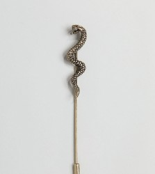 Reclaimed Vintage Inspired Snake Lapel Pin In Gold Exclusive To ASOS - Gold
