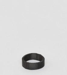Reclaimed Vintage Inspired Soft Band Ring - Black