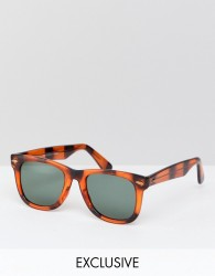 Reclaimed Vintage Inspired Square Sunglasses In Tort Exclusive To ASOS - Brown