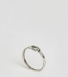 Reclaimed Vintage Inspired Sterling Silver Knot Ring - Silver