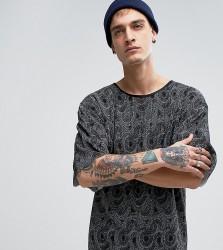 Reclaimed Vintage Inspired T-Shirt In Plisse - Black