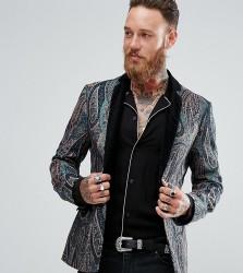 Reclaimed Vintage Inspired Tapestry Blazer - Green