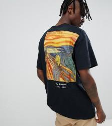 Reclaimed Vintage inspired the Scream t-shirt in black - Black