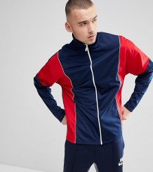 Reclaimed Vintage Inspired Track Jacket In Navy And Red - Navy