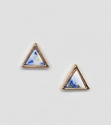 Reclaimed Vintage Inspired Triangle Stud Earrings In Gold Exclusive To ASOS - Silver