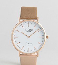 Reclaimed Vintage Inspired Two Tone Leather Watch In Brown Exclusive To ASOS - Brown