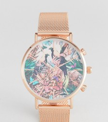 Reclaimed Vintage Inspired Wild Mesh Watch In Rose Gold Exclusive To ASOS - Gold