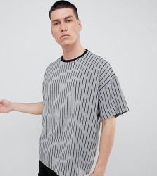 Reclaimed Vintage Inspired Woven T-Shirt In Stripe - Black