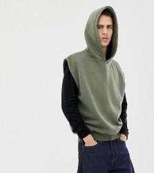 Reclaimed Vintage overdye sleeveless hoodie - Green