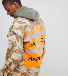Reclaimed Vintage revived customised military jacket - Stone