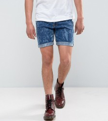 Reclaimed Vintage Revived Levis Shorts With Bleach Wash - Blue