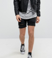 Reclaimed Vintage Revived Levis Shorts With Distressing - Black