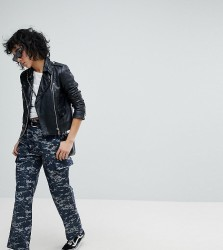 Reclaimed Vintage Revived Military Trousers In Pixel Camo - Blue