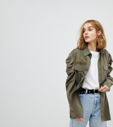 Reclaimed Vintage Revived Tailored Military Shirt - Green