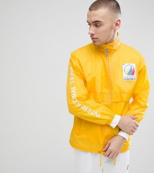 Reclaimed Vintage Revived Windbreaker With Sleeve Print - Yellow