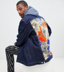 Reclaimed Vintage x looney tunes denim jacket with back panel - Blue