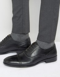 Red Tape Brogues In Black Leather - Black
