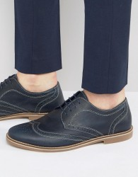 Red Tape Brogues In Navy - Blue
