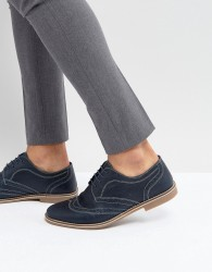 Red Tape Brogues Navy Leather - Blue