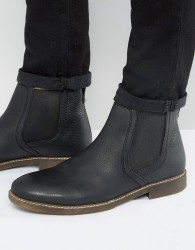 Red Tape Chelsea Boots In Black Leather - Black