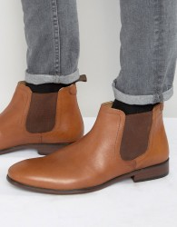 Red Tape Chelsea Boots In Tan Leather - Tan