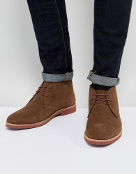 Red Tape Chukka Boots Brown Suede - Brown