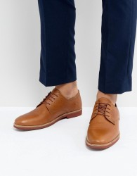 Red Tape Derby Shoes In Milled Tan Leather - Tan