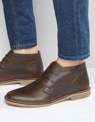 Red Tape Desert Boots In Brown Leather - Brown