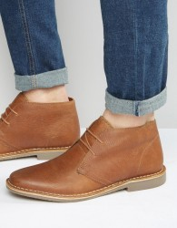 Red Tape Desert Boots In Tan Leather - Tan